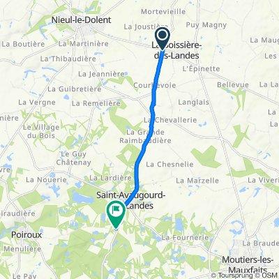De D108, Aubigny à 2 Route de Poiroux, Poiroux