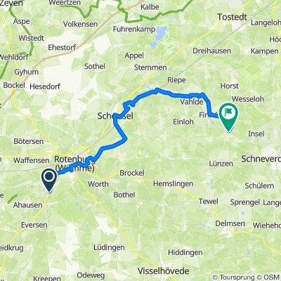 Hauptstraße 20, Rotenburg (Wümme) nach Zum Hungerkamp, Schneverdingen