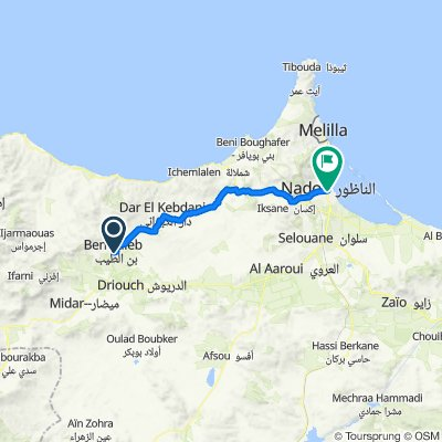 ط ج 511, بن الطيّب to Avenue EL FARABI, Nador