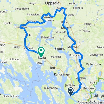 Sverigeleden till Örsundsbro + Mälardalsleden till Bålsta (2 dagar x ca 75 km)