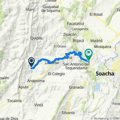Route to Via 21, Soacha