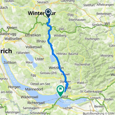 Hüsliweg, Winterthur nach Herrenberg 1, Rapperswil-Jona