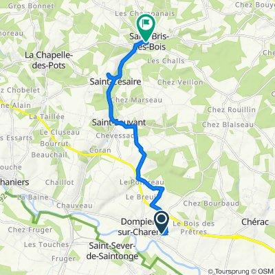 De 93 Rue Goulebenèze, Dompierre-sur-Charente à 8–12 Rue de la Vallée, Saint-Bris-des-Bois