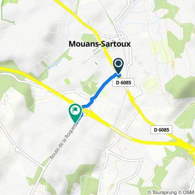 De 495 Avenue de Cannes, Mouans-Sartoux à 950 Route de La Roquette, Mouans-Sartoux