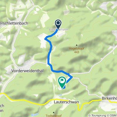 Lindelbrunn 2, Vorderweidenthal nach Bethof 1, Vorderweidenthal