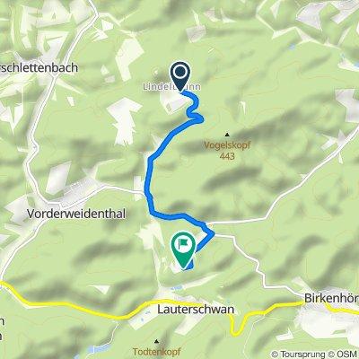Lindelbrunn 6, Vorderweidenthal nach Bethof 1, Vorderweidenthal