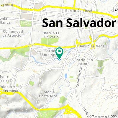 Ruta tranquila en San Salvador