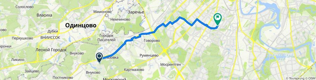 От улица Авиаконструктора Петлякова д.25, Москва до улица Цюрупы 8, Москва