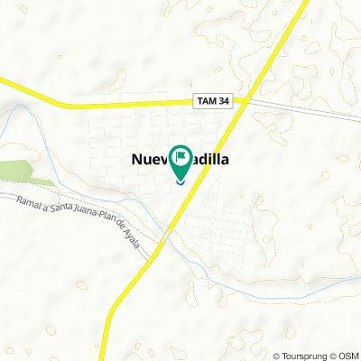 De Calle Vicente Guerrero 13–21, Nueva Villa de Padilla a Calle Vicente Guerrero 13, Nueva Villa de Padilla