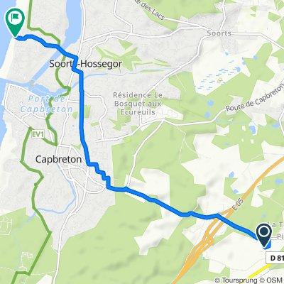 De 158 Cheminement de Pouchuc, Bénesse-Maremne à 106 Rue des Landais, Soorts-Hossegor