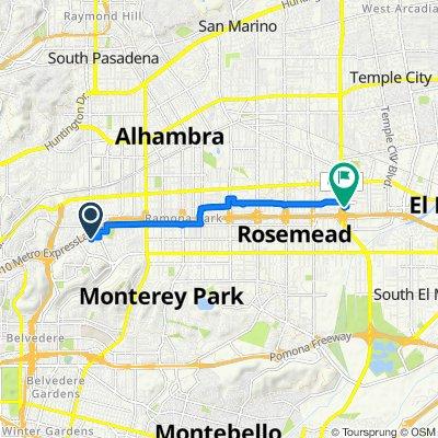 2307 El Paseo St, Alhambra to 3614 Rosemead Blvd, Rosemead