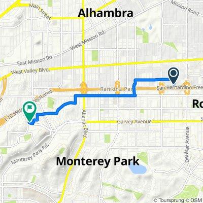2001–2099 Jackson Ave, San Gabriel to 1801 W Garvey Ave, Alhambra