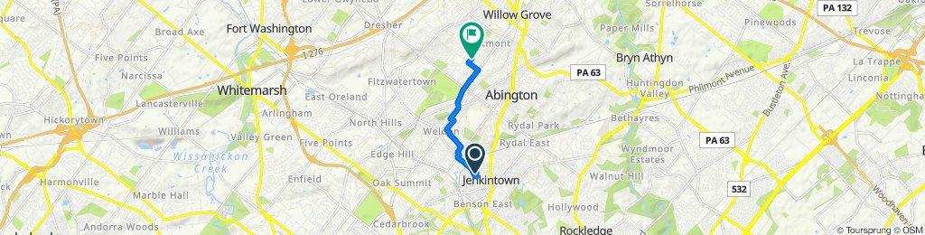 412 Hillside Ave, Jenkintown to 1383 Reservoir Ave, Abington