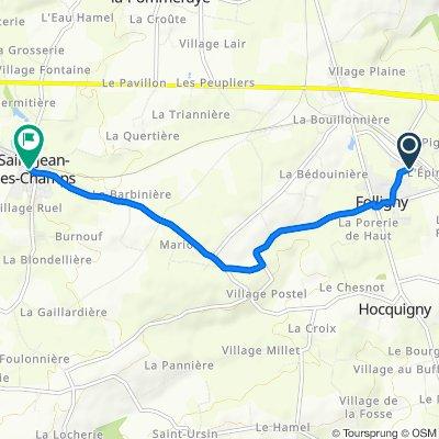 De 38 Rue de la Petite Vitesse, Folligny à 9 Rue Gustave Flaubert, Saint-Jean-des-Champs