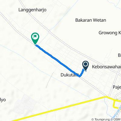 Jalan Mawar, Kecamatan Juwana to Jalan Juwana - Wedarijaksa, Kecamatan Juwana