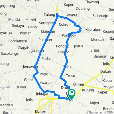 Unnamed Road, Kecamatan Klaten Utara to Cantelan, Klaten Utara