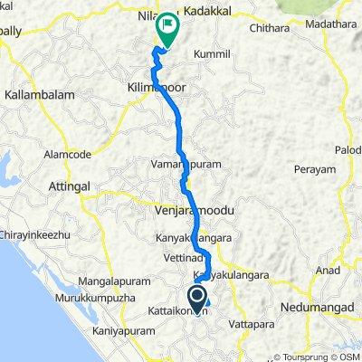 Powdikonam-Pothencode Road, Thiruvananthapuram to Attupuram - Thattathumala Road, Pazhayakunnummel
