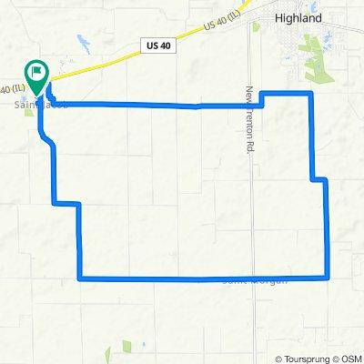 County Road 13 303, Saint Jacob to West 3rd Street 110, Saint Jacob