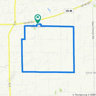 North Douglas Street 307, Saint Jacob to County Road 13 303, Saint Jacob