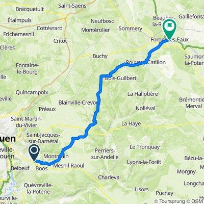 De Chemin de la Croix, Franqueville-Saint-Pierre à 5 Rue Rebours Mutel, Forges-les-Eaux