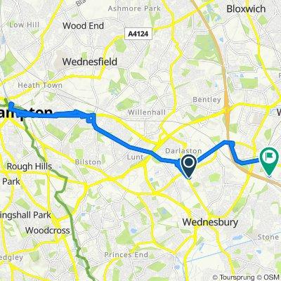 82 Centenary Lane, Wednesbury to Bescot Crescent, Walsall