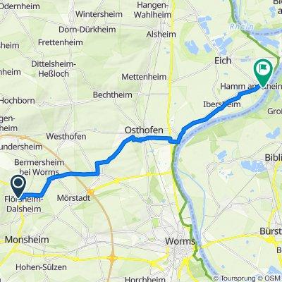 Wonnegaustraße 1–9, Flörsheim-Dalsheim nach Nach dem Rhein, Hamm am Rhein