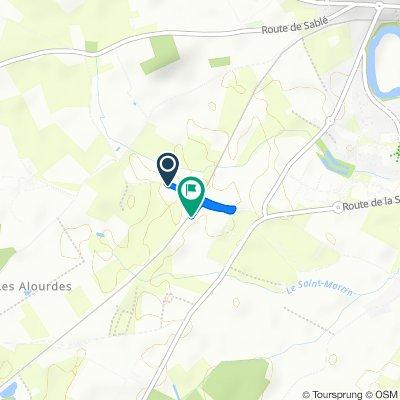 Itinéraire à partir de Le Grand Guédon, Allonnes