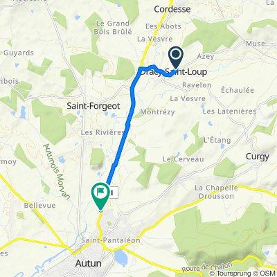 De 3 Rue des Bleuets, Dracy-Saint-Loup à 71 Route d'Arnay-le-Duc, Autun