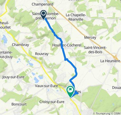 De 9 Rue de Chambray, Sainte-Colombe-près-Vernon à 40 Rue Aristide Briand, Ménilles