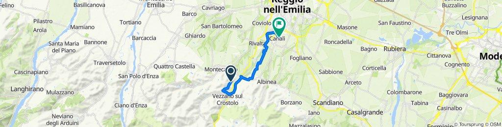 Da Via Foscolo, Quattro Castella a Via Città di Pemba 27, Reggio Emilia