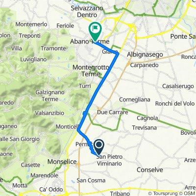 Da Via Rovina 9, Pernumia a Via Jacopo Tatti Sansovino 19, Abano Terme
