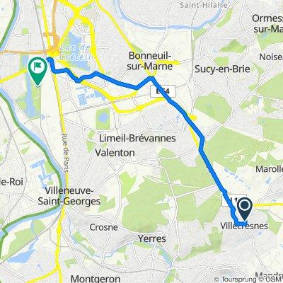 De 62bis Rue du Lieutenant Dagorno, Villecresnes à Chemin des Ateliers, Choisy-le-Roi