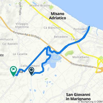 Percorso per Via Enrico Fermi 27, Misano Adriatico