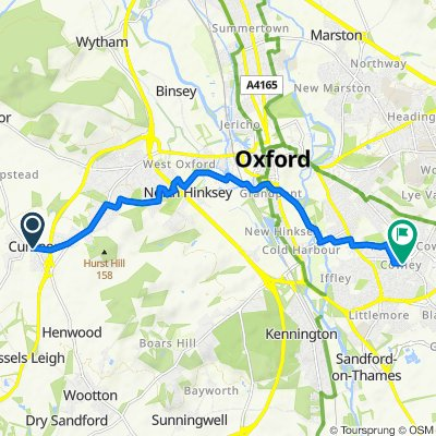 High Street, Oxford to Hockmore Street, Oxford