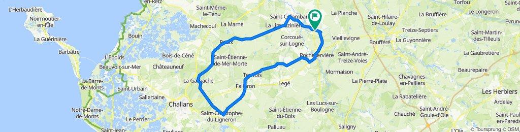 De Allée du Rayon d'Or 3, Saint-Philbert-de-Bouaine à Rue de l'Aiguail 26, Saint-Philbert-de-Bouaine