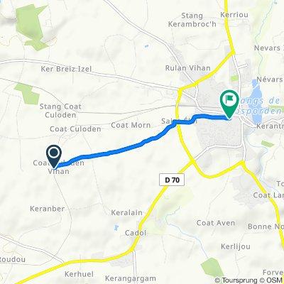 Moderate route in Rosporden