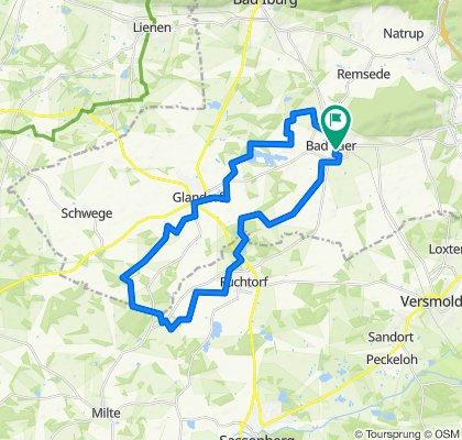 Rundtour Glandorf, Füchtorf -Cafepause Dinkelhof-