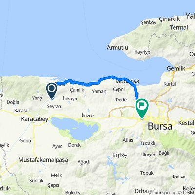 Route to Petek Sokak 19, Nilüfer