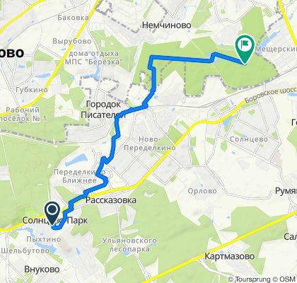 От улица Летчика Грицевца 5, Москва до Unnamed Road, Москва