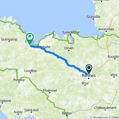 De Route du Bout du Monde, Saint-Grégoire à 36–176 Rue Vicairie, Saint-Brieuc