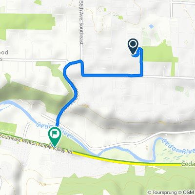 14028 163rd Ave SE, Renton to Cedar River Trail Walk, Renton
