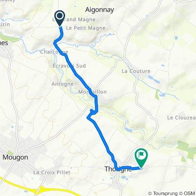 De Route de Magne, Aigonnay à 14–34 Chemin Bas, Thorigné