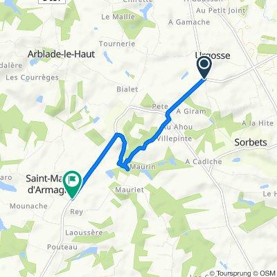 De D25, Urgosse à D25, Saint-Martin-d'Armagnac