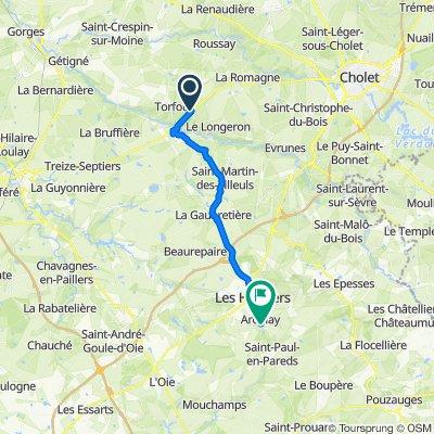 De 6 La Colonne, Torfou à 58 Rue Monseigneur Massé, Les Herbiers