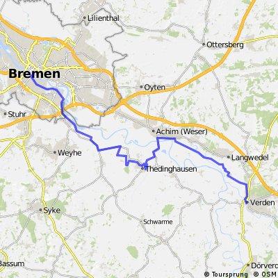 Weser-Radweg: Verden - Bremen CLONED FROM ROUTE 30