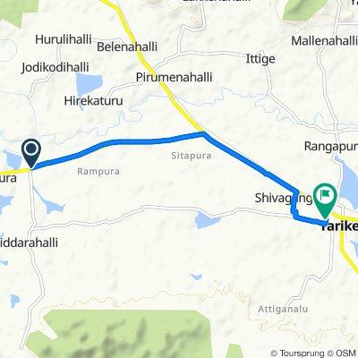 Restful route in Tarikere