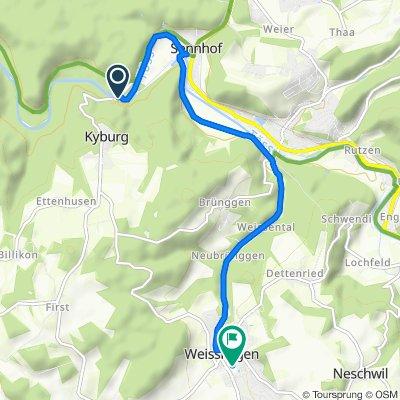 Linsentalstrasse, Sennhof nach Dorfstrasse, Weisslingen