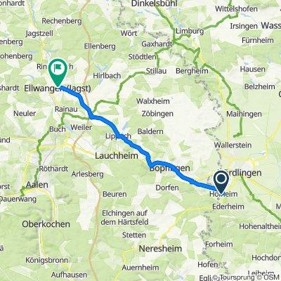 Am Himmelreich 7, Nördlingen nach Sebastiansgraben 51, Ellwangen