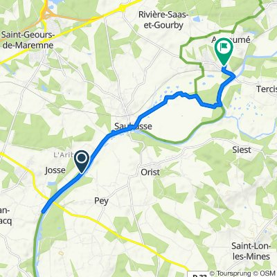 De Chemin de Halage 640, Josse à Route d'Angoumé 197, Rivière-Saas-et-Gourby