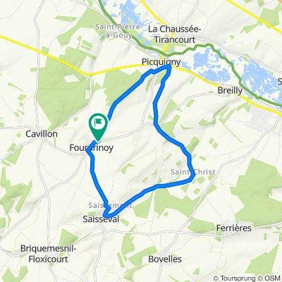 De Chemin de Picquigny 6, Fourdrinoy à Rue d'Amiens 12, Fourdrinoy